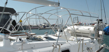 Stainless steel bimini and dodger frames
