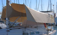 Sunshade awning for yacht